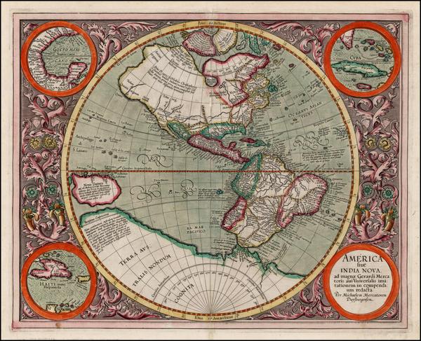10-World, Western Hemisphere, South America and America Map By Michael Mercator