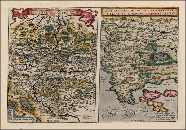 26-Austria, Balkans and Northern Italy Map By Abraham Ortelius