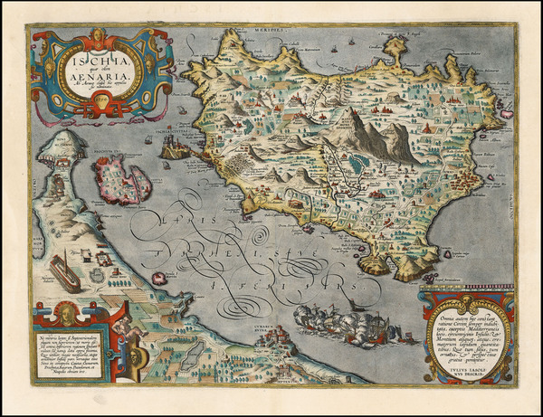 80-Italy and Balearic Islands Map By Abraham Ortelius