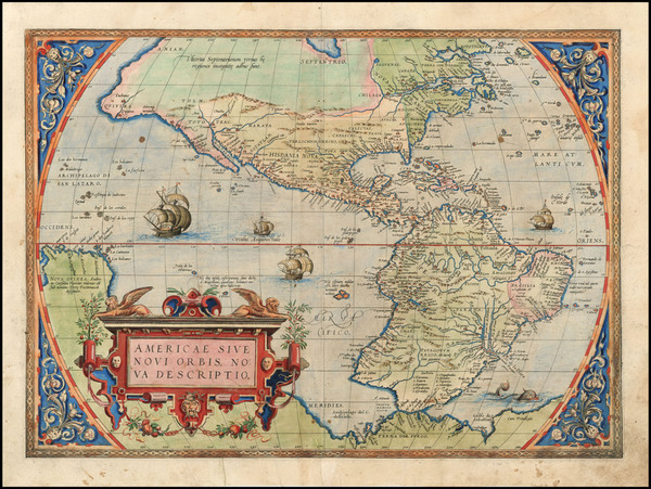 9-Western Hemisphere, South America and America Map By Abraham Ortelius