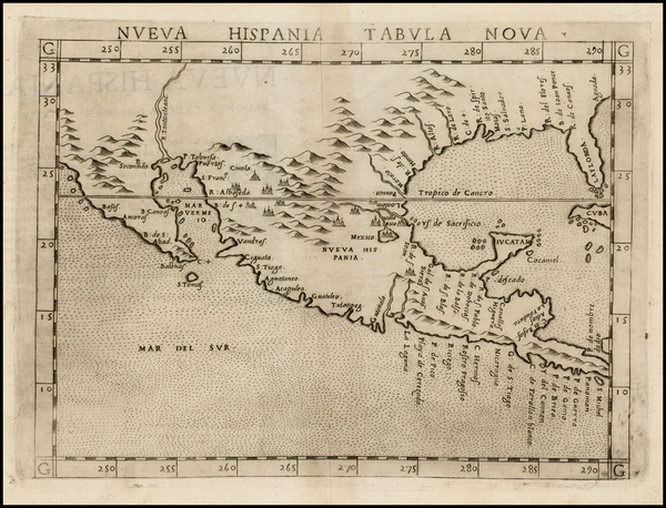 77-South, Southeast, Texas, Southwest, Rocky Mountains, Mexico and Baja California Map By Girolamo