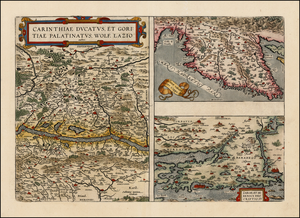 75-Austria and Balkans Map By Abraham Ortelius