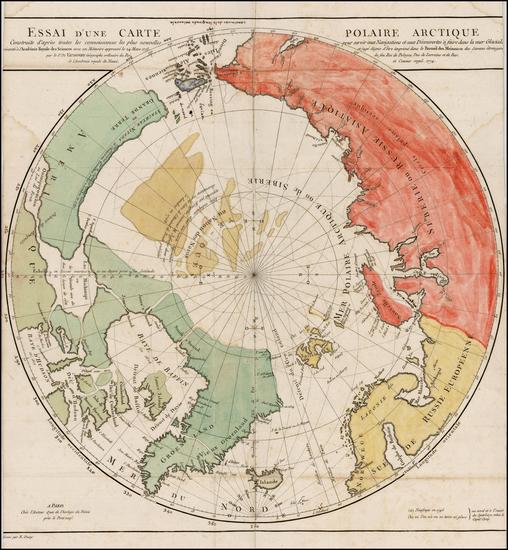 12-Polar Maps, Alaska, Canada, Russia, Scandinavia and Russia in Asia Map By Gilles Robert de Vaug