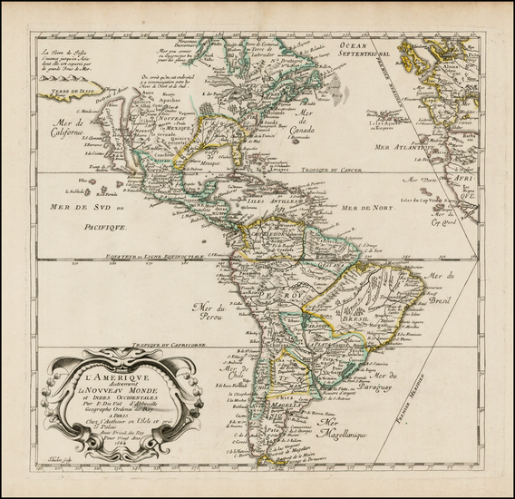 44-South America and America Map By Pierre Du Val