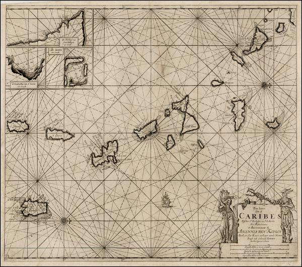 34-Caribbean Map By Johannes Van Keulen