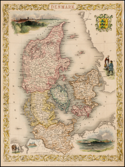 15-Scandinavia Map By John Tallis