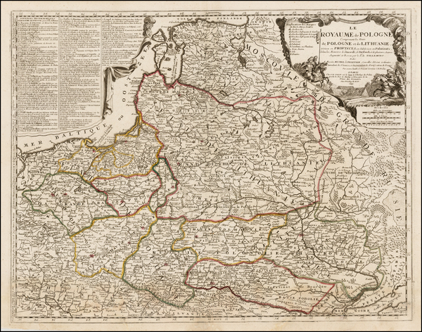 100-Poland, Ukraine and Baltic Countries Map By Jean-Baptiste Nolin