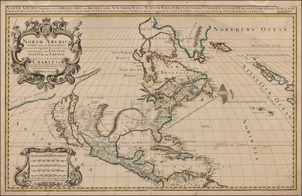 39-North America and California Map By William Berry