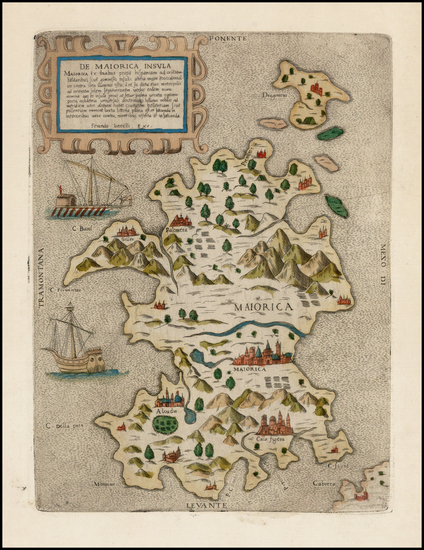 91-Spain and Balearic Islands Map By Ferrando Bertelli