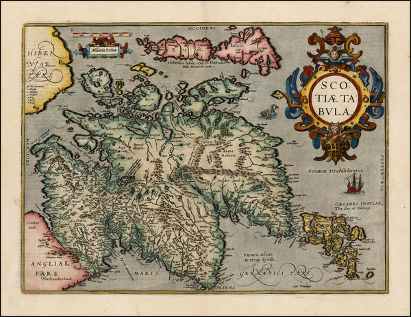 33-Scotland Map By Abraham Ortelius