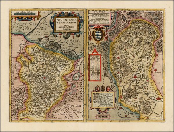 51-Italy Map By Abraham Ortelius / Johannes Baptista Vrients
