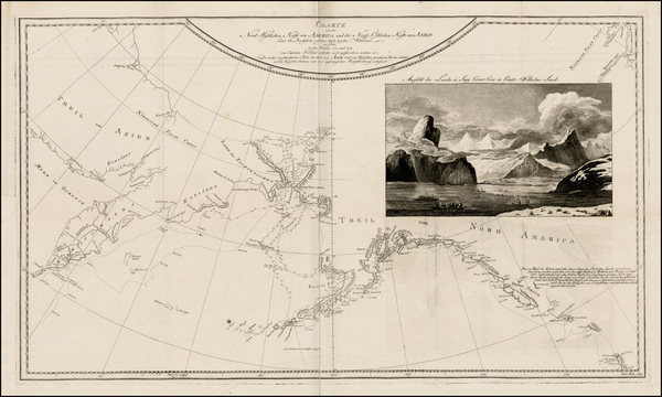87-Polar Maps, Alaska, Canada, Pacific and Russia in Asia Map By James Cook / J. C. G. Fritzsch