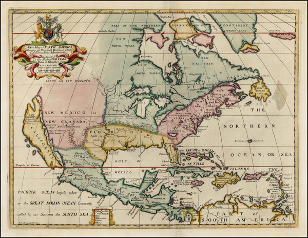 47-North America and California Map By Edward Wells