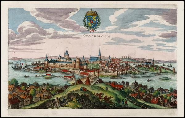 31-Scandinavia Map By Matthaus Merian