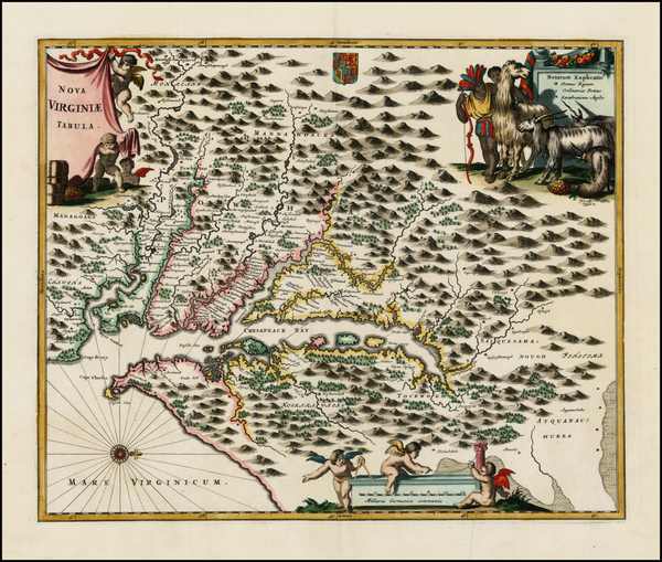 46-Mid-Atlantic and Southeast Map By John Ogilby