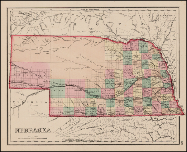 76-Nebraska Map By O.W. Gray