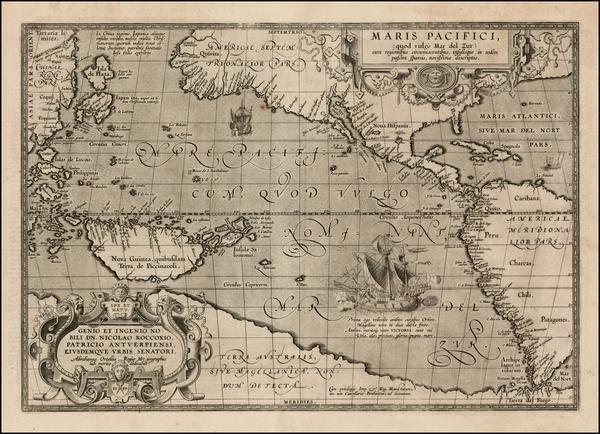 67-Western Hemisphere, Polar Maps, South America, China, Japan, Pacific, Australia, Oceania and Am
