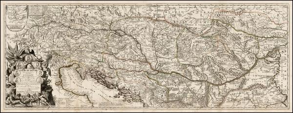 85-Germany, Austria, Poland, Ukraine, Hungary, Romania, Balkans and Italy Map By Vincenzo Maria Co