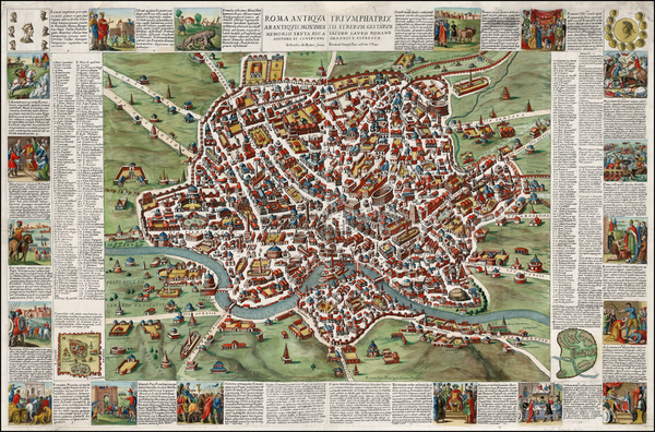 93-Italy and Rome Map By Giacomo Giovanni Rossi