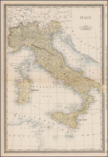 52-Italy Map By Rand McNally & Company