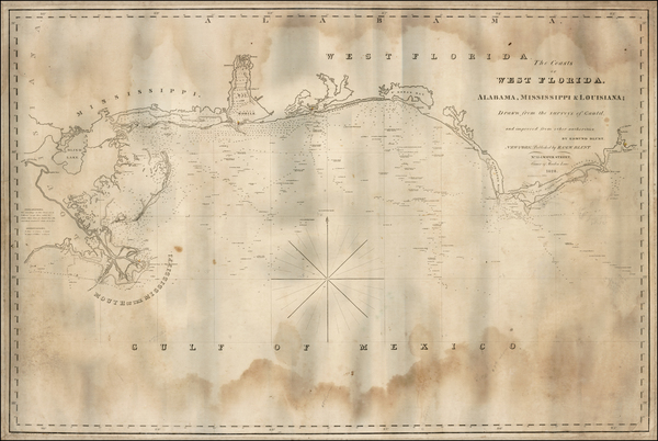 89-Florida and Southeast Map By Edmund M. Blunt