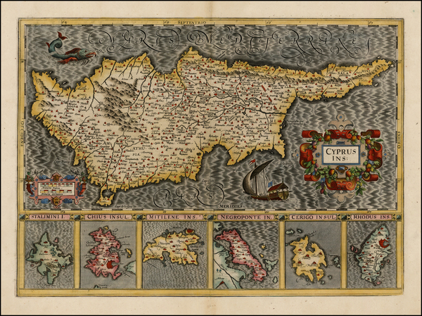 60-Greece and Cyprus Map By Gerard Mercator