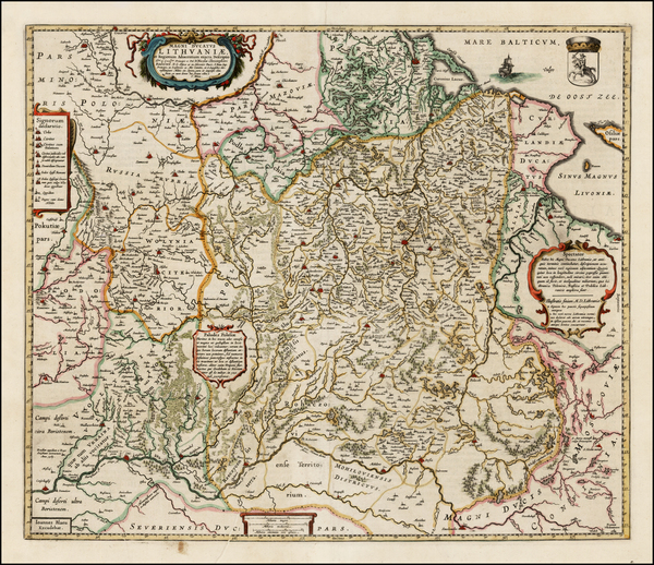 32-Poland, Ukraine and Baltic Countries Map By Johannes Blaeu