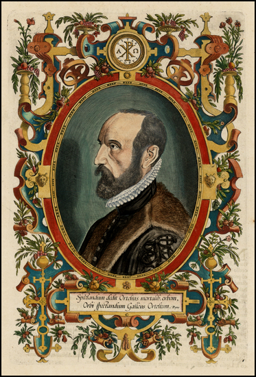 89-Curiosities and Portraits & People Map By Abraham Ortelius