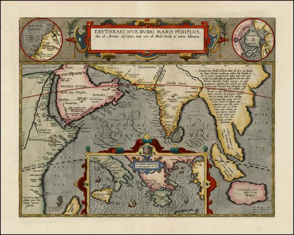 32-Polar Maps, Indian Ocean, Greece, Mediterranean, India, Southeast Asia, Other Islands, Central