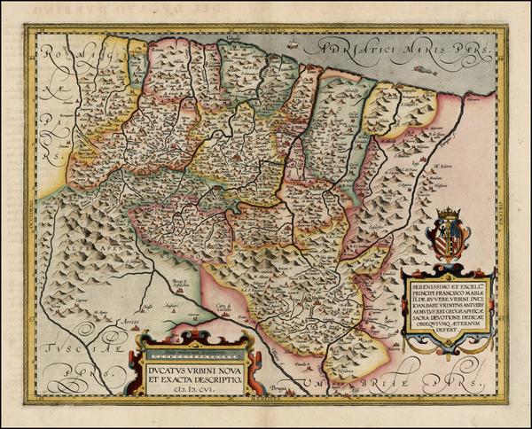 42-Italy Map By Abraham Ortelius