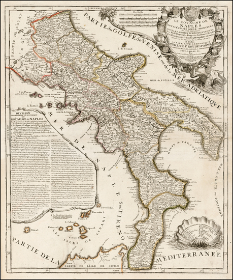 44-Italy and Southern Italy Map By Jean-Baptiste Nolin