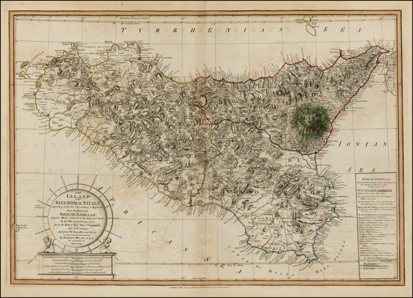 53-Italy, Balearic Islands and Sicily Map By Laurie & Whittle