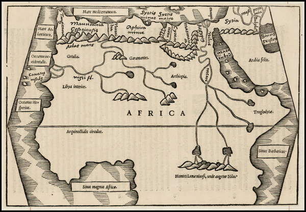 39-Africa, Africa and North Africa Map By Caius Julius Solinus