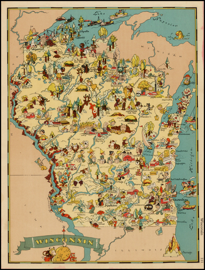 2-Midwest Map By Ruth Taylor White