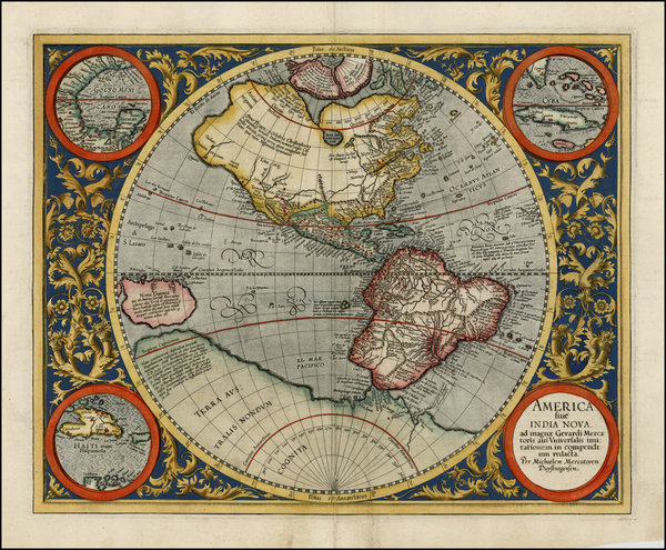 13-World, Western Hemisphere, South America and America Map By Michael Mercator