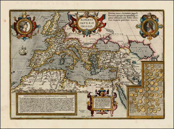22-Europe, Italy, Mediterranean, Balearic Islands and Turkey & Asia Minor Map By Abraham Ortel