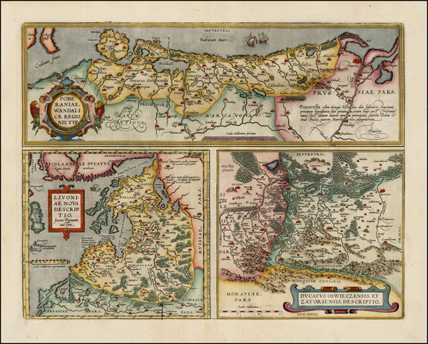 11-Germany, Poland, Romania and Baltic Countries Map By Abraham Ortelius