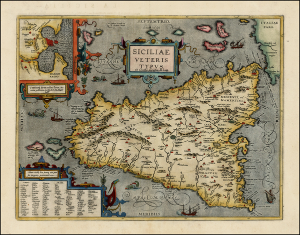 53-Italy and Balearic Islands Map By Abraham Ortelius