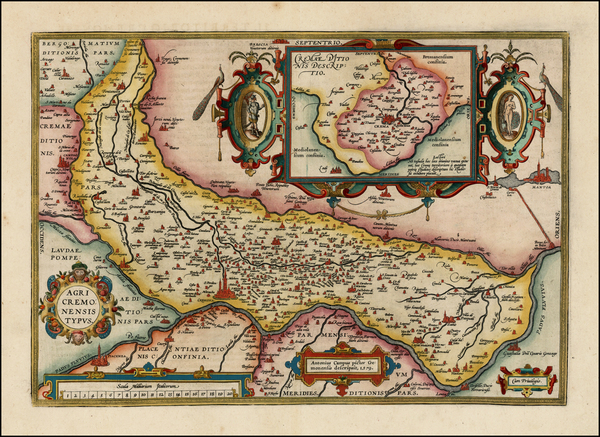 78-Northern Italy Map By Abraham Ortelius