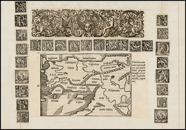 66-Middle East, Turkey & Asia Minor and Curiosities Map By Caius Julius Solinus