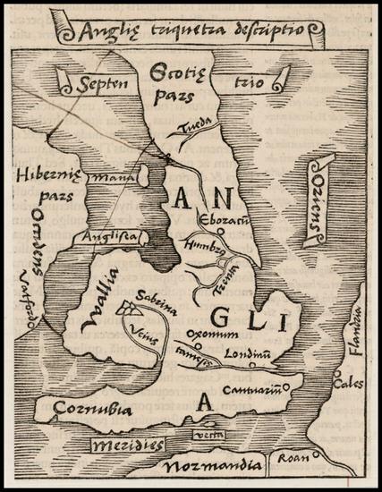 17-British Isles Map By Caius Julius Solinus