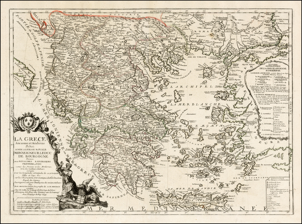 Greece Map By Jean-Baptiste Nolin