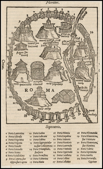 80-Italy Map By Caius Julius Solinus