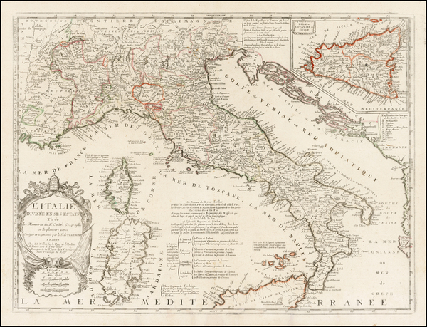 Italy Map By Jean-Baptiste Nolin