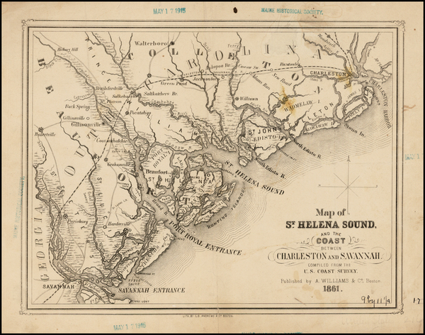 53-Southeast Map By A. Williams & Co.