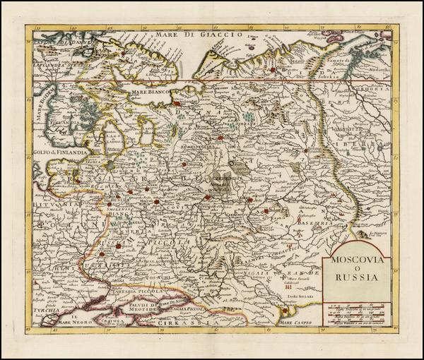 55-Russia and Ukraine Map By Giambattista Albrizzi