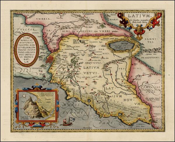 88-Italy Map By Abraham Ortelius