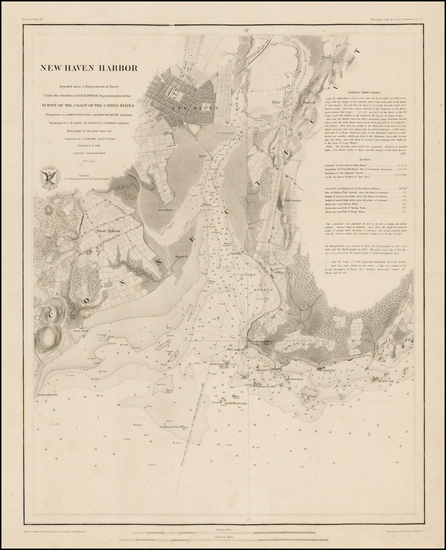 68-New England and Connecticut Map By United States Coast Survey / Sherman & Smith