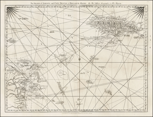 59-Jamaica and Central America Map By Thomas Jefferys