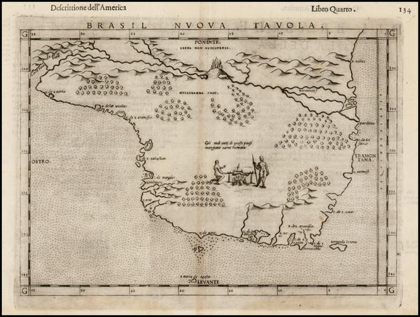 11-Brazil Map By Girolamo Ruscelli